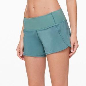"Lulu Lemon Run Times 4"" shorts"